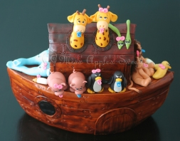 Noah's Ark Sugar Cake Topper