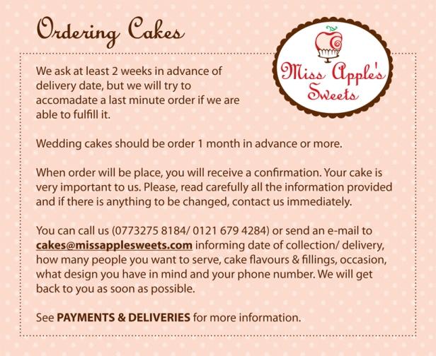 Ordering Cake2