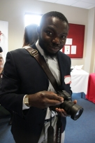 Dotun, from Titan Photography warming up with Chilli Pepper Brigadeiro